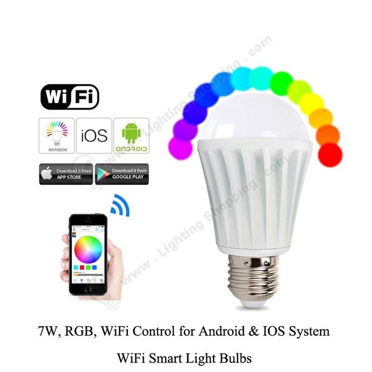 #WiFi #Smart #Light #Bulbs, 7W, #RGBW, AC85V-240V, #Wireless #LED #Globe Bulbs, supports Android & IOS System >>> http://www.lightingshopping.com/rgbw-wifi-smart-light-bulbs-7w.html