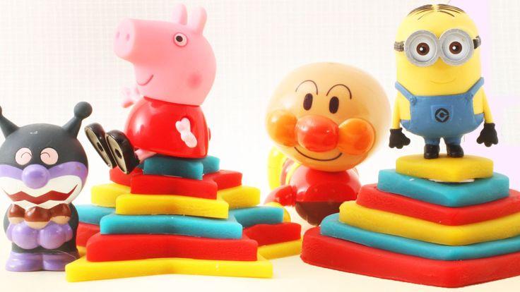 アンパンマンおもちゃアニメ ねんど遊び!シール遊び!ねんどプレートから何が出るかな?