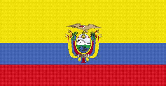 Ecuador's flag has been in use since 1860, which makes it one of the world's oldest flag designs.  The bright yellow, blue and red flag is a symbol of Ecuador and its national pride and you will see it everywhere from football matches to government departments.