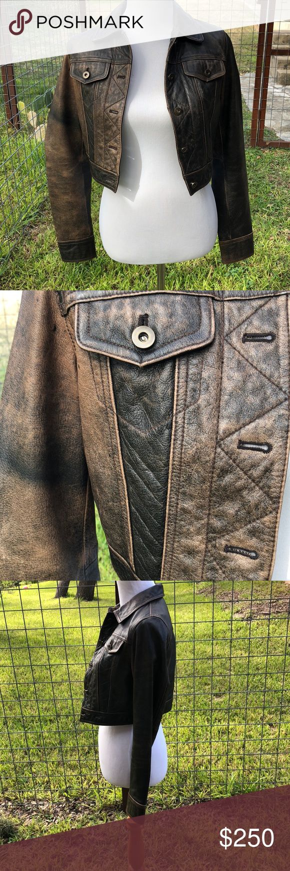 Wilsons Leather Maxima Distressed Moto Jacket Fine as... ️