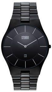 Storm-London-SLIM-X-XL-Slate-Orologio-Uomo-47159-sl-Analogico-Acciaio-Inox-Nero