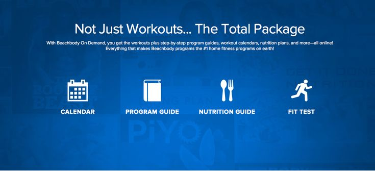 Not Just Workouts. The Total Package.