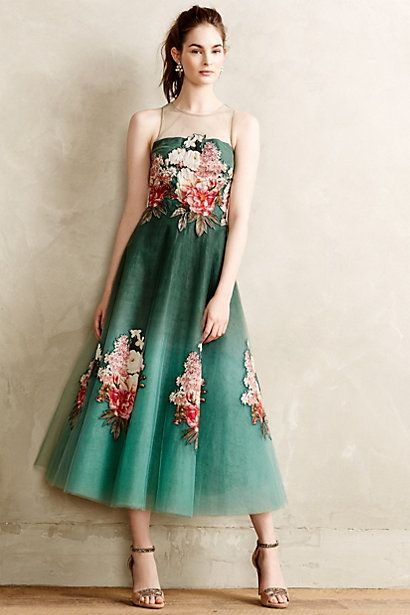 Prima Tulle Dress #anthropologie
