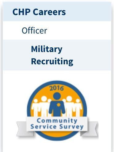CHP California Highway Patrol military recruitment veteran's preference program https://www.chp.ca.gov/chp-careers/officer/military-recruiting
