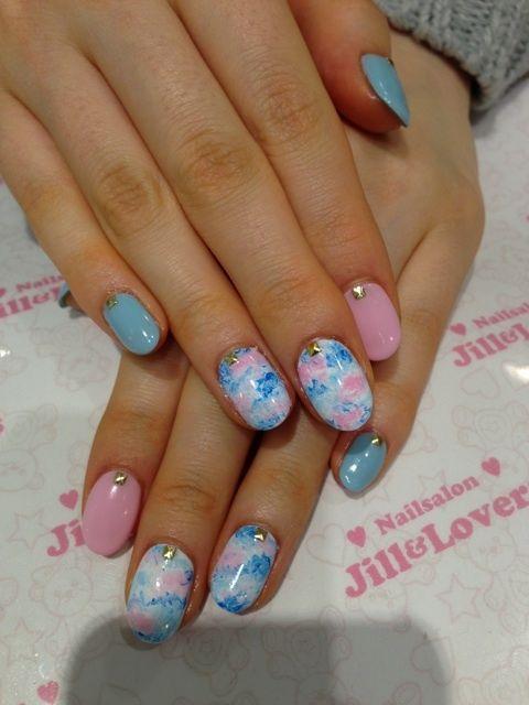 「 ピンク×アイスブルーネイル☆ 」の画像  Jill&Lovers shibuyaのブログ Ameba (アメーバ)
