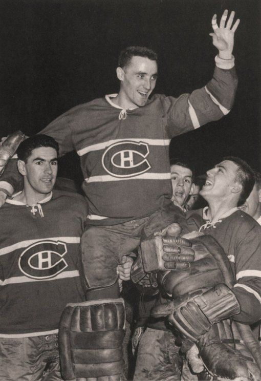 Jacques Plante with Montreal Canadiens.
