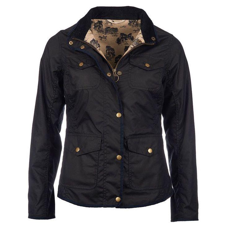 Holsteiner Wax Jacket in Navy by Barbour