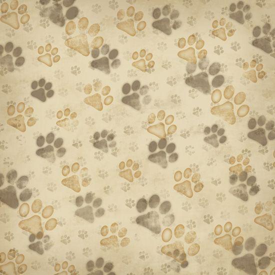 Karen foster design dog collection 12 x 12 paper - Dog print wallpaper ...