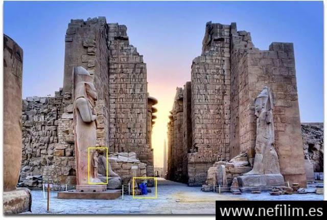 Ancestrales y colosales estatuas de dioses en Egipto evidencia de gigantes en la antigüedad.