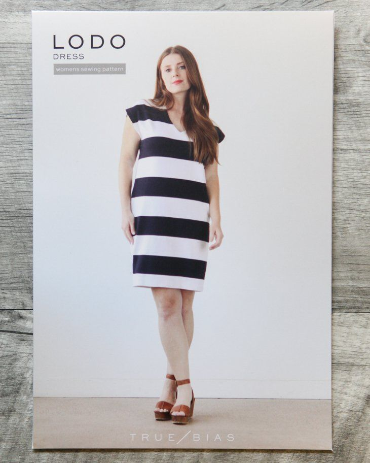 7db87001f49db The Lodo pattern is an elevated take on a basic t-shirt dress. It ...