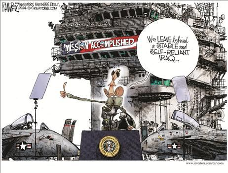 Political Cartoons by Michael Ramirez,,,,,,oh yeah.....we see the stability you created