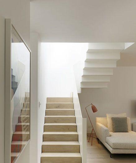 Minimal white staircase