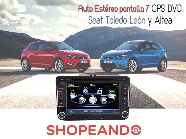 Pon guapo a tu auto con este accesorio increíble. GPS y DVD a un súper precio. Disponible para Seat Toledo Leon y Altea  #autos #tecnología