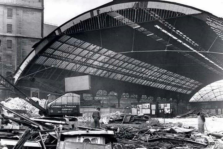 Central station demolition