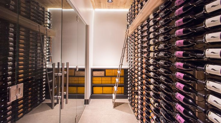 Cowhorn Vineyard wine storage. Green Hammer Architect, Erica Dunn, designed the tasting room to meet Living Building Challenge petal certification and incorporated the same Passive House standards the residence will be certified under. 2YokeDesign provided interior design.