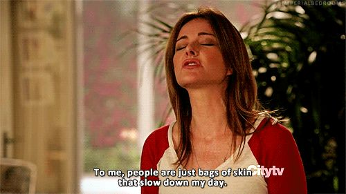 """On other people… 