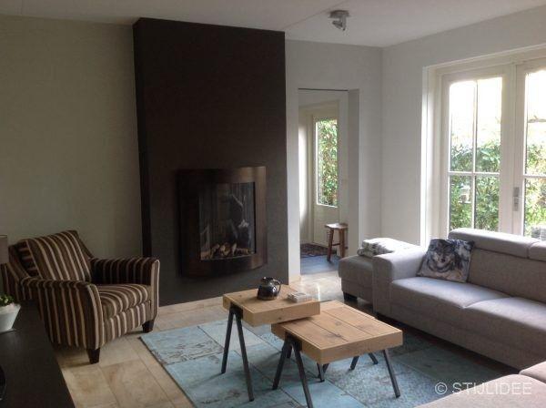 Binnenkijken In Een Woonkamer En Keuken In Modern Landelijke Stijl In Houten Thuisdecoratie Modern Landelijk Woonkamer
