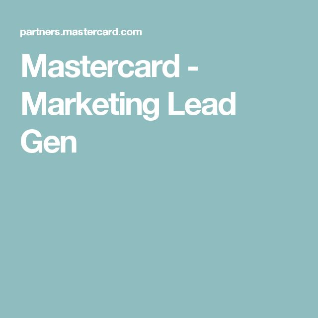 Mastercard - Marketing Lead Gen