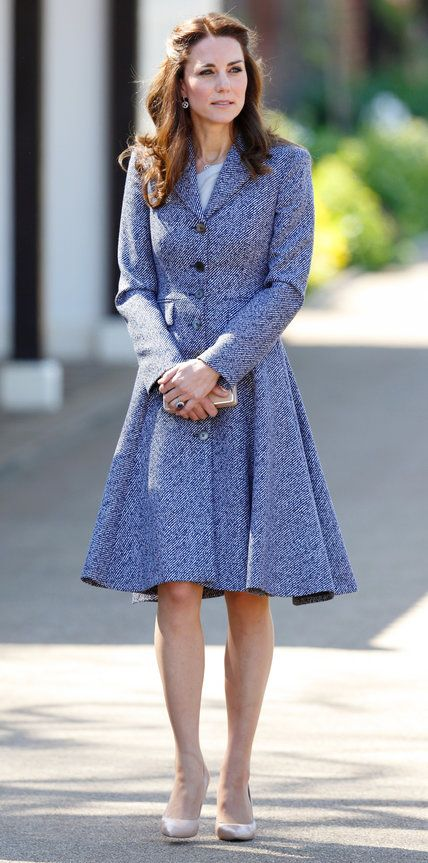 The royal wore a Michael Kors coat with L.K. Bennett shoes for the opening of Magic Garden at Hampton Court.