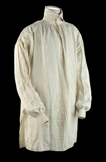 Extant* 1807 Shirt from The National Maritime Museum - note high collar