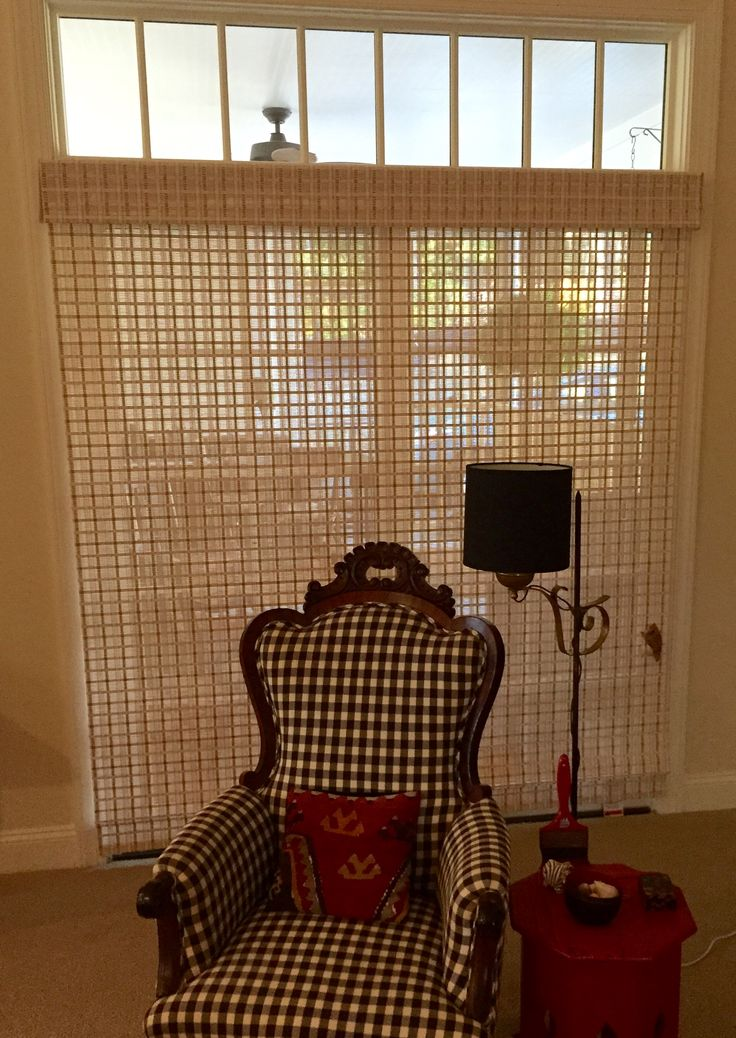 Graber natural blinds worked beautifully to screen the porch doors in winter.