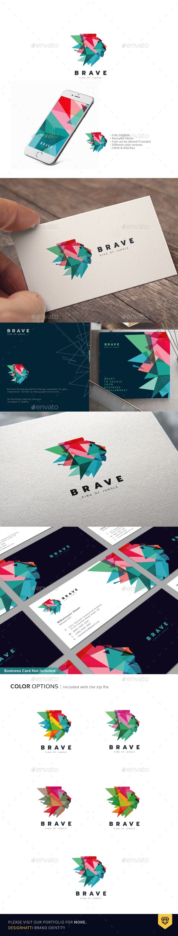 The Lion Logo Design Template - Animals Logo Templates PSD, Vector EPS, AI Illustrator. Download here: https://graphicriver.net/item/the-lion-logo/18483069?ref=yinkira