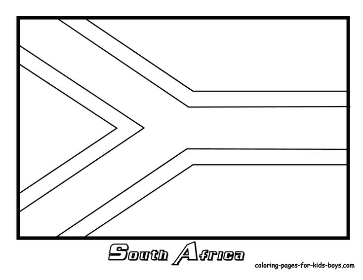 flag coloring pages africa - photo#1