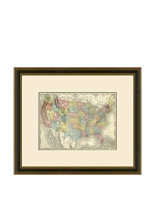 50% OFF Antique Lithographic Map of the United States, 1886-1899