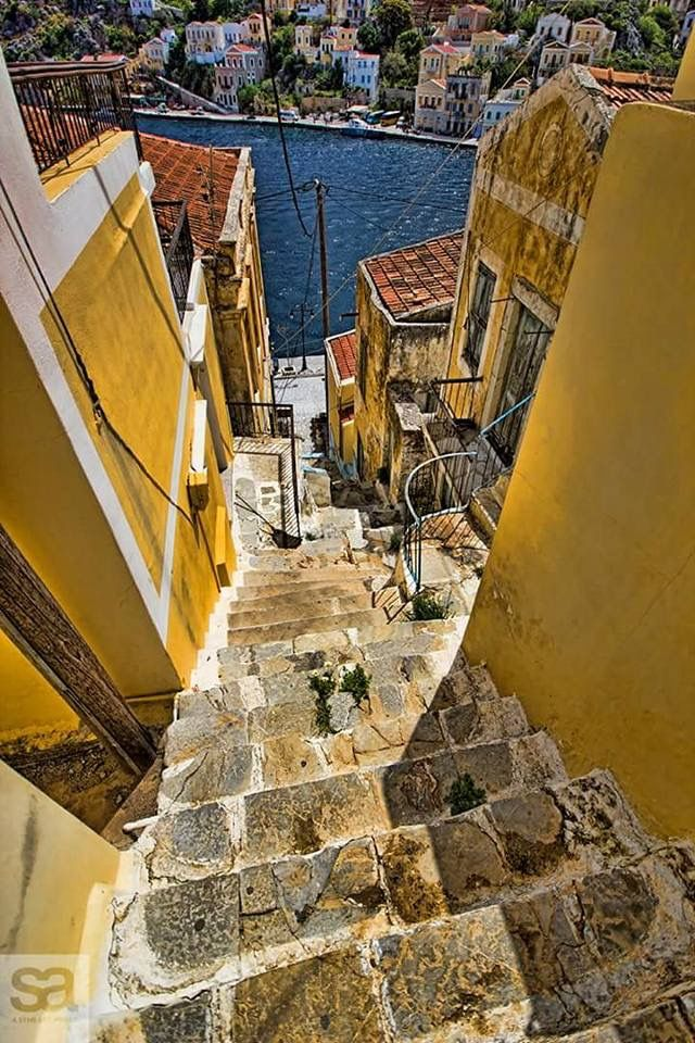 Symi streets!!! Day trip from Rhodes!