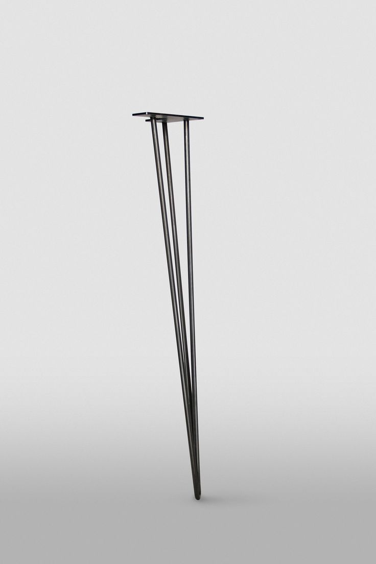 "3 Rod Hairpin Leg – Hairpinlegs.com, $13.50 each for 28"" legs in raw steel - paint gold for craft desk??"