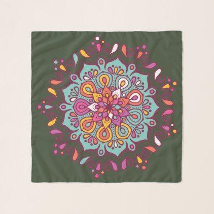 mandala print spiritual yogini chiffon scarf - accessories accessory gift idea stylish unique custom