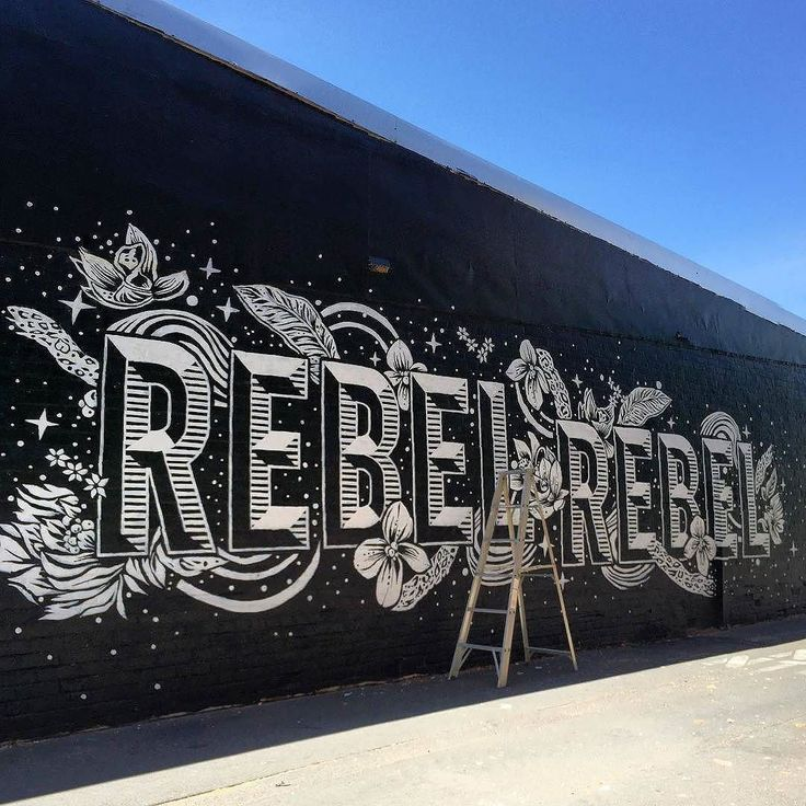 Awesome mural by @mrseaves101 | #typegang if you would like to be featured | typegang.com | typegang.com #typegang #typography