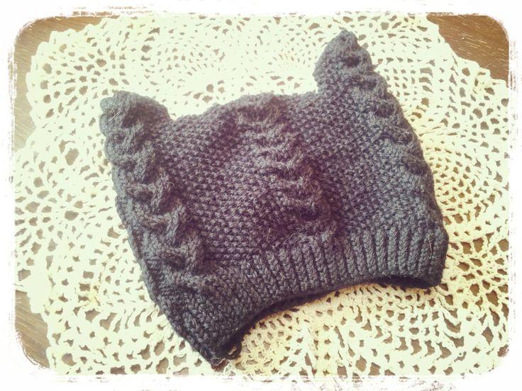 大人用猫耳ニット帽の作り方 編み物 編み物・手芸・ソーイング ハンドメイドカテゴリ アトリエ