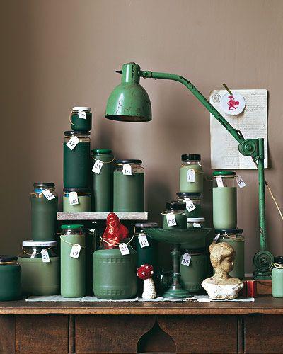 advent calendar with paint jars...