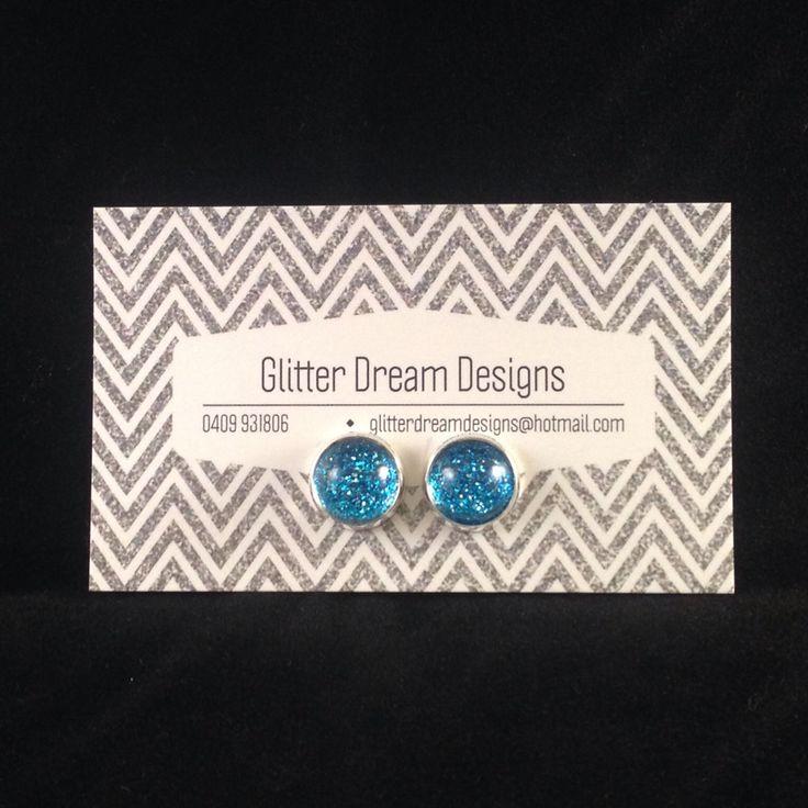 Order Code B1 Blue Cabochon Earrings