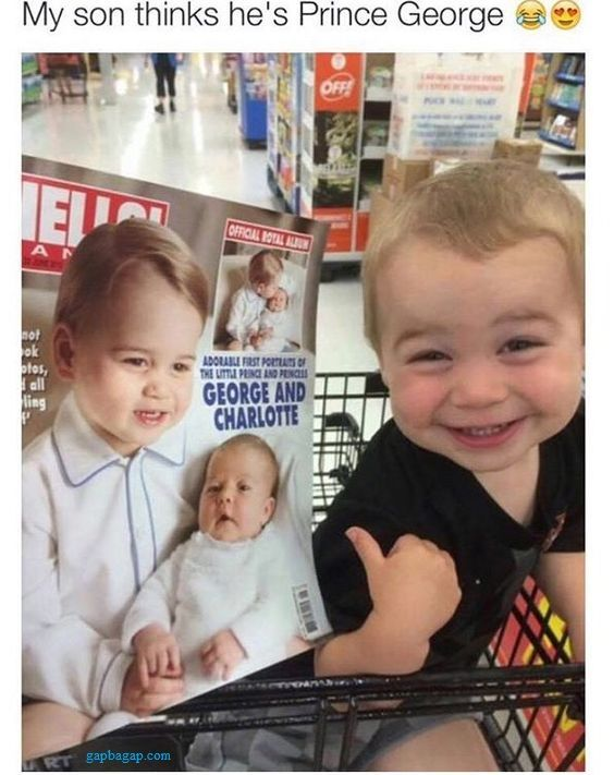 Funny Picture Of A Toddler Thinks He is Prince George