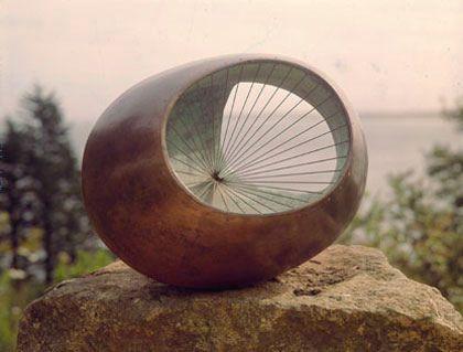 Barbara Hepworth Plaster Sculptures | Sculpture with Strings-Barbara Hepworth, Bronze, 1939_1961 (cast in ...