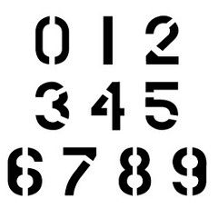 CCN0074 Military Numbers Stencils (stencilease) Tags: stencils stencil industrial roman number numbers font times script dali arial newsprint