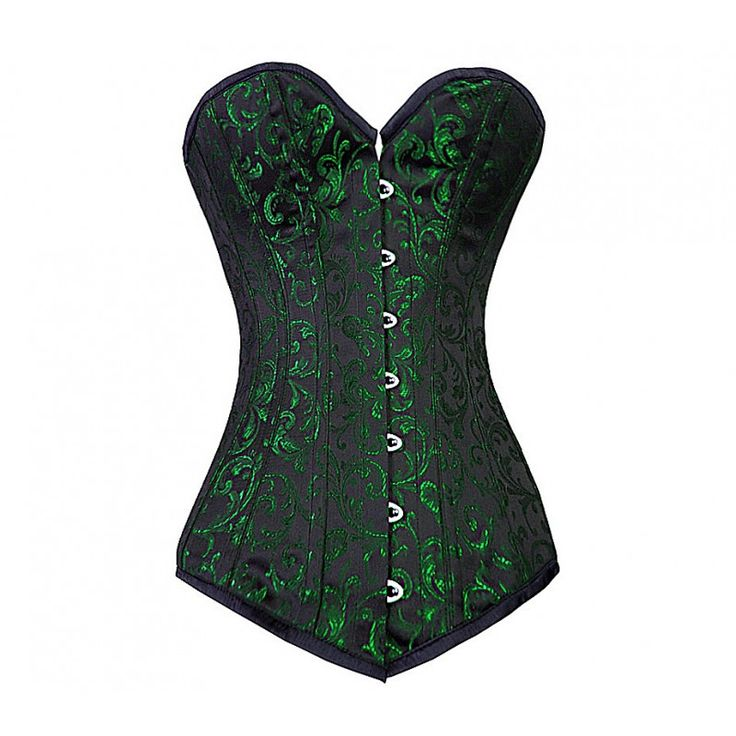 MY-026 - Long Green Brocade Corset. i want it... poison ivy costum!!! yes plz