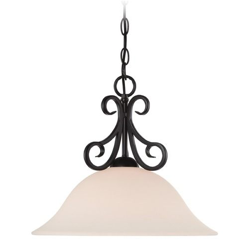 Designers Fountain Addison Oil Rubbed Bronze Pendant Light with Bowl / Dome Shade at Destination Lighting