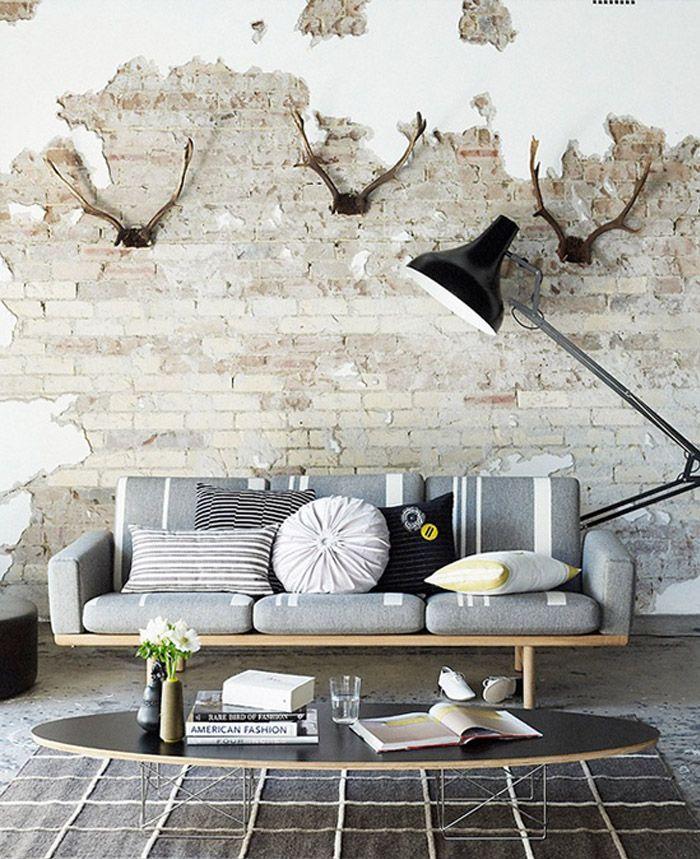 Revestimiento de paredes en ladrillo con leroy merlin mi casa interiores ladrillo y hogar - Revestimiento paredes interiores leroy merlin ...