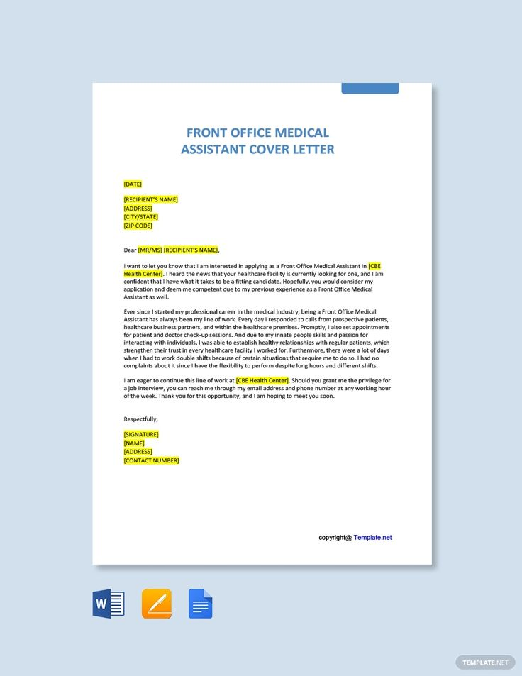 10+ Medical assistant cover letter samples free inspirations