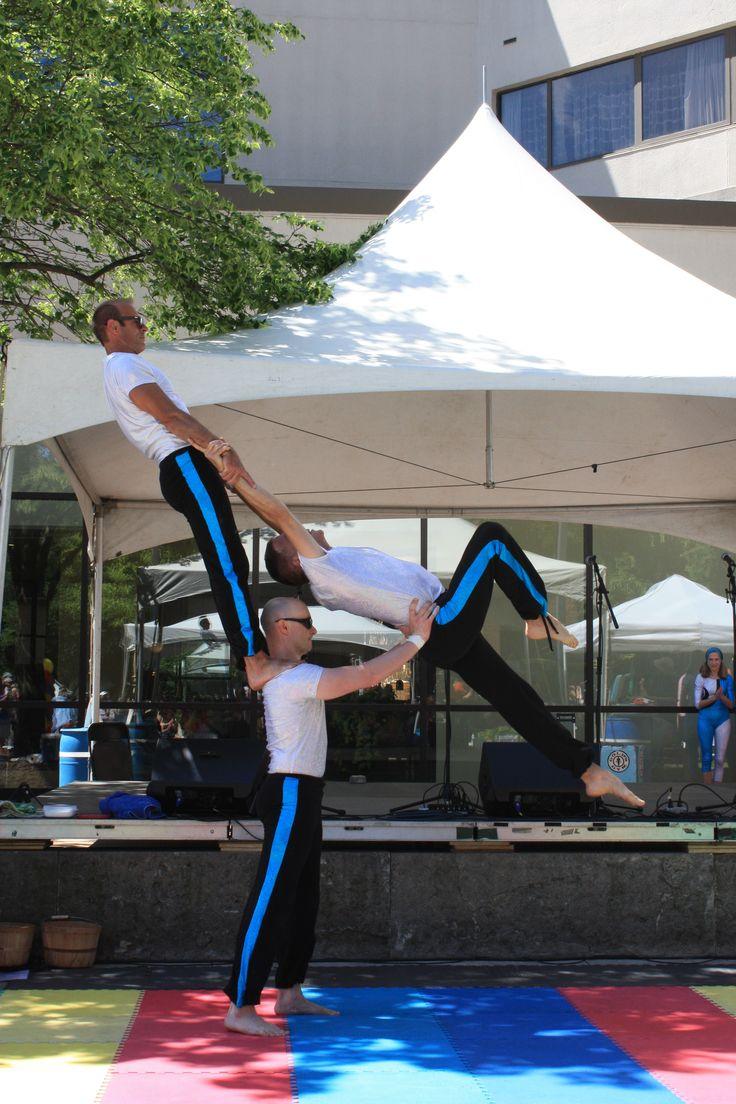 FEAT Acrobatics 3- Person Group Acrobalance outdoor festival
