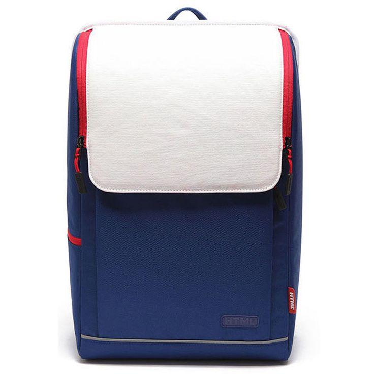 HTML Union Jack backpack - S. Korea Premium Popular Brand HTML, Side 2 zip pocket,inner zip pocket, Mesh Padded shoulder straps and Backrest cushion