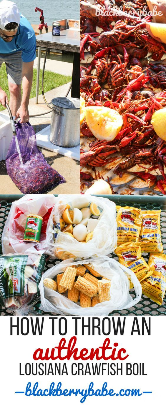 How to throw an authentic Louisiana Crawfish Boil! It's so much easier than you think. Recipe by www.blackberrybabe.com
