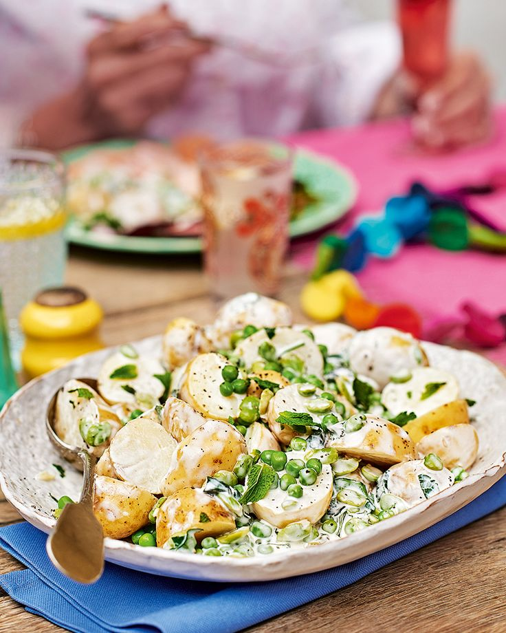 A potato salad with added oomph – we've added mint, peas and broad beans to freshen up this classic summer side dish.