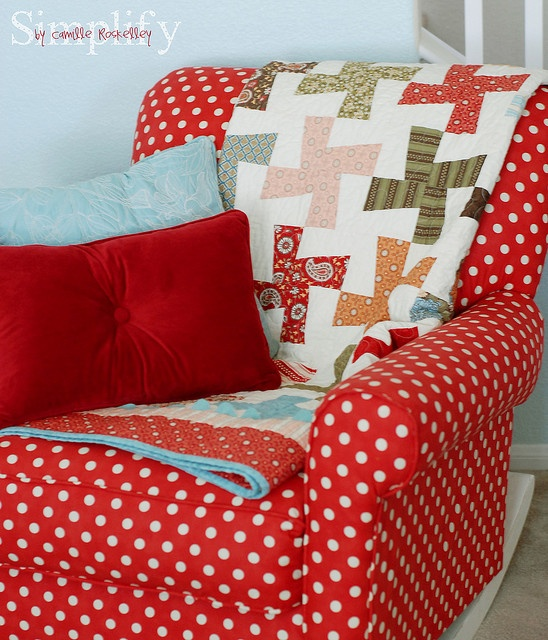 the most FABULOUS polka dot chair!! I hate the choice of blanket and pillows they picked with it, but i love the chair!