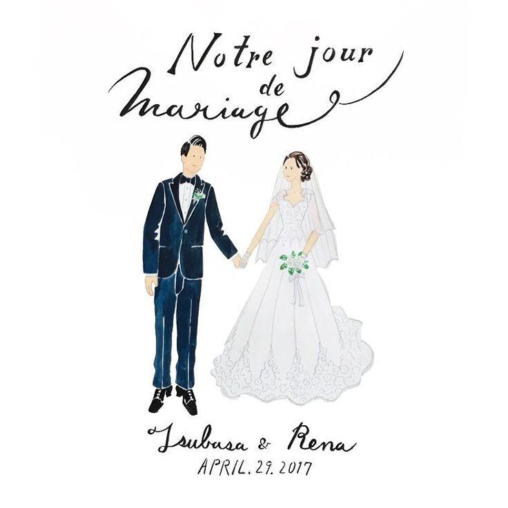 Notre jour de Mariage ⛪️ おめでとうございます    文言も定型文以外もお描きいたします。ご希望はご注文時にお知らせください    4/29はたくさんのイラストボードのご注文があり、5枚!描かせていただきました。ありがとうございます☺︎ 過去の作品は  #cuicui_illustboard   でご覧いただけます    #cuicui_wedding #welcomeboard #welcomespace #illustration#illustrator  #bridal #wedding   #プレ花嫁#花嫁#ウェルカムボード #ウェルカムスペース #イラスト #イラストレーション#新郎新婦#結婚式#結婚準備 #結婚式場 #ウェディングドレス #instagood #instawedding #席次 #招待状 #invitationcard #invitation #flower #ブーケ #かすみ草ブーケ