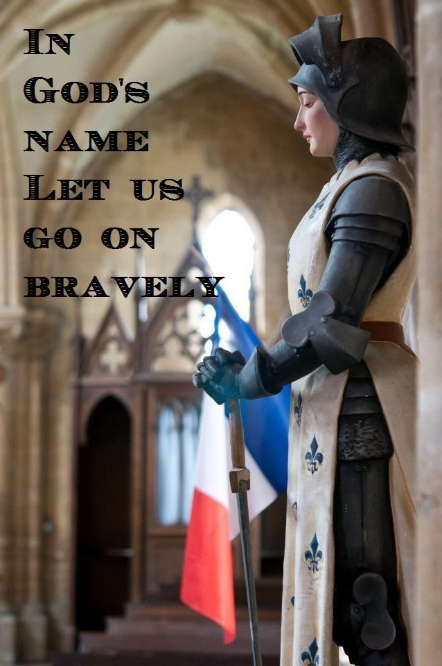 """Thought for the Day – May 30 #pinterest """"Joan of Arc is like a shooting star across the landscape of French and English history, amid the stories of the Church's saints and into our consciousness. Women identify with her; men admire her courage. She ..........  Awestruck.tv"""