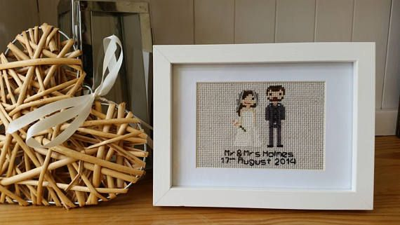 Hey, I found this really awesome Etsy listing at https://www.etsy.com/uk/listing/273160484/custom-wedding-anniversary-cross-stitch